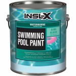 Insl-X Products WR1010092-01 Swimming Pool Paint, Water Borne Semi-Gloss, White, 1-Gal.