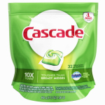 Procter & Gamble 14389 Dishwasher Action Pacs, Regular Scent, 32-Ct.