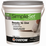 Custom Bldg Products CTTSG1-2 Gallon Gray Thin Set Mortar