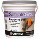 Custom Bldg Products PMG1051-2 Pre-Mixed Grout, Earth, 1-Gal.