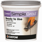 Custom Bldg Products PMG105QT Pre-Mixed Grout, Earth, 1-Qt.