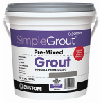 Custom Bldg Products PMG1801-2 Pre-Mixed Grout, Sandstone, 1-Gal.