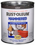 Rust-Oleum 7214-502 Hammered Finish Paint, Gray, Interior/Exterior, 1-Qt.