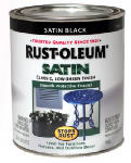 Rust-Oleum 7777-502 Qt. Black Satin Rust Preventative Brush-On Paint