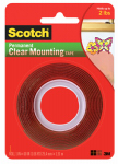 3M 4010 1 x 60-Inch Clear Heavy-Duty Mounting Tape