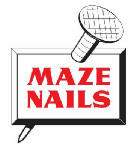 Maze Nails H530A-5 Pole Barn Nails, Ring Shank, Hardened Steel, 60D, 6-In., 5-Lbs.