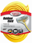 Southwire/Coleman Cable 04189 100-Ft. 12/3 SJTW-A Yellow 3-Outlet Extension Cord