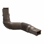 Amerimax Home Products 85019 Downspout Extension, Flexible Brown Poly, Extends 24 - 55-In.