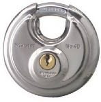 Master Lock 40D 2-3/4 Inch Wide Disk-Shaped High-Security Shielded Padlock