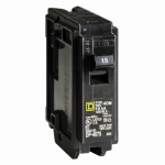 Square D HOM 115CP 15A Single Pole Circuit Breaker