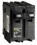 Square D HOM 225CP 25A Double Pole Circuit Breaker