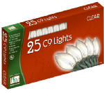 Noma/Inliten-Import 925C-88 Christmas Lights Set, Clear, 25-Ct.