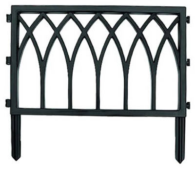 About SUNCAST GCF24 23 1 2 BLACK CATHEDRAL GARDEN FENCE FENCING