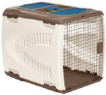 Suncast PCS2821 Pet Carrier For Dogs 21.5-In. Tall,  Taupe, Brown Resin, 20.75 x 26.5-In.