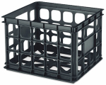 Sterilite 16929006 Storage Crate, Black