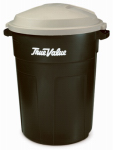 Rubbermaid 2894TVEGRN True Value 32-Gallon Evergreen/Khaki Refuse Can