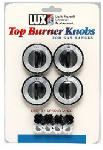 Lux Products CPR410 Gas Range Top Burner Knobs, Black, 4-Pk.