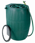 Achla Designs RB-02 75-Gallon Green Rain Barrel With Screen