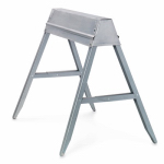 Fulton TS-11 Folding Sawhorse, Galvanized Steel, 32.5 x 29.25-In.