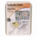 Buddy Prod 130-1 Key Cabinet, Lockable, Holds 30 Keys, Gray