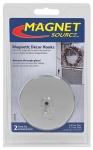 Master Magnetics 07254 2-Piece Magnetic D cor Hook