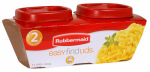 Rubbermaid 1776477 Easy-Find Lid Food Storage Containers, 0.5-Cup, 2-Pk.