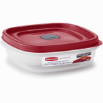 Rubbermaid 1777086 Easy-Find Lid Food Storage Container, 3-Cups