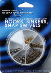 Maurice Sporting Goods 1000 Hook & Sinker Fishing Swivel Set, Assorted, 75-Pc.