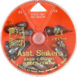 Maurice Sporting Goods 130-FP All-In-1 Rubber Fishing Sinkers, Dial Box