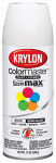 Krylon Diversified Brands K05150802 Colormaster Spray Paint, Indoor/Outdoor Use, Semi-Gloss White, 12-oz.