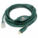 Ho Wah Gentin Kintron Sdnbhd 09001ME 25-Ft. 14/3 SJTW Green Outdoor Extension Cord