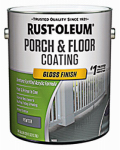 Rust-Oleum 244849 Porch & Floor Finish, 1-Gallon, Gloss Pewter