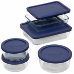 World Kitchen 6021224 Storage Set, Blue Lids, 10-Pc.