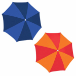 Rio Brands UB884-TS Beach Umbrella, Orange & Blue Polyester, Assorted, 6-Ft.