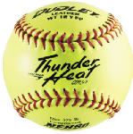 Spalding Sports Div Russell 43-147P Thunder Heat Fast-Pitch Softball, Yellow, 12-In.