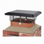 Hy-C SCADJ-L Chimney Cap, Black Steel, Large Multi-Fit