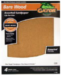 Ali Industries 4461 4-Pack 9 x 11-Inch Assorted Garnet Sandpaper