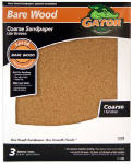 Ali Industries 4462 Sandpaper, Garnet Coarse 60-Grit, 9 x 11-In., 3-Pk.