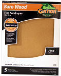 Ali Industries 4464 Sandpaper, Garnet Fine 150-Grit, 9 x 11-In., 5-Pk.