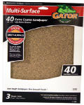 Ali Industries 4439 Sandpaper, Extra Coarse 40-Grit, 9 x 11-In., 3-Pk.