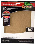 Ali Industries 4440 Sandpaper, Coarse 60-Grit, 9 x 11-In., 4-Pk.