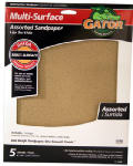 Ali Industries 4466 5-Pack 9 x 11-Inch 320-Grit Sandpaper