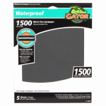 Ali Industries 4470 Sandpaper, Mirror Fine 1500-Grit, 9 x 11-In., 5-Pk.