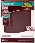 Ali Industries 4471 Sandpaper, Ultra Fine 600-Grit, 9 x 11-In., 5-Pk.