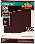 Ali Industries 4473 Sandpaper, Extra Fine 320-Grit, 9 x 11-In., 5-Pk.