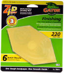 Ali Industries 7211 6-Pack Zip 220-Grit Sanding Refill Sheet