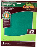 Ali Industries 7261 Sandpaper Sheet, 80-Grit, 9 x 11-In., 3-Pk.
