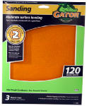 Ali Industries 7263 Sandpaper Sheet, 120-Grit, 9 x 11-In., 3-Pk.