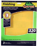 Ali Industries 7267 3-Pack EZ123 9 x 11-Inch 320-Grit Sandpaper Sheet