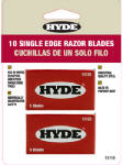 Hyde Tools 13110 Paint Scraper Blades, Single Edge, 10-Pk.